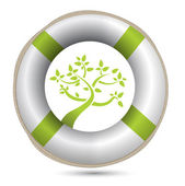Sos lifesaver eco environment i — Stock Photo