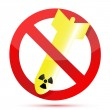 No radioactive bombs — Stock Photo