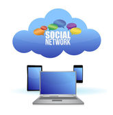 Social media & cloud computing concept — Stock Photo