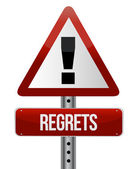 Warning sign with a regrets — Stock Photo