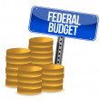 Federal budget coins — Stock Photo