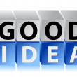 Good ideletters and cubes — Stock Photo #16971821