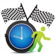 Stock Photo: Race Against Time concept