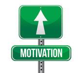 Motivation green sign — Stock Photo