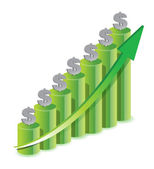 Money Icon Color Graph — Stock Photo