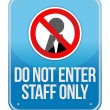 Staff Only Sign Isolated — Stock Photo