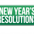 Sign announcing 'New Year's Resolutions' — Stock Photo