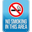 Stock Photo: Blue Square No Smoking In This Area Sign