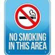 Blue Square No Smoking In This Area Sign — Stock Photo