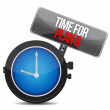 Image of a nice clock with time for Plan B — Stockfoto