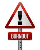 Roadsign with a burnout concept — Stock Photo