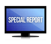 Special report monitor — Stock Photo