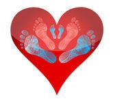 Контуры сердца — Стоковое фото
