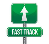 Roadsign with a fast track concept — Stock Photo