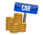 Car savings concept — Stock Photo