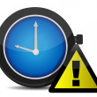 Stock Photo: Clock Reminder Icon