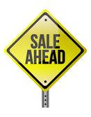 Sale Ahead sign — Stock Photo