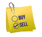 Vender o comprar un post — Foto de Stock
