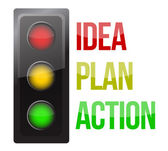 Traffic light design planning business — Stock Photo