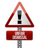 Road traffic sign with an unfair dismissal cost — Stock Photo