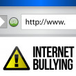 Browser with an internet bullying concept — Stock Photo