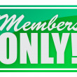 Stock Photo: Members only