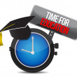 Stock Photo: Clock with words time for education