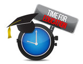 Clock with words time for education — Stock Photo