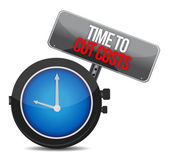 Clock with words time to cut costs — Stock Photo