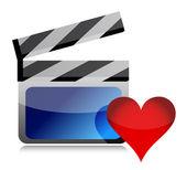 Favorite movie icon — Stock Photo