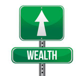 Road sign with the word Wealth — Stock Photo