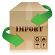 Import box — Stock Photo