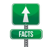 Facts, Just Ahead Green Road Sign — Stock Photo