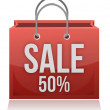 50% OFF SHOPPING BAG — Stock Photo