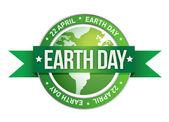Giornata della terra scritto all'interno del timbro — Foto Stock