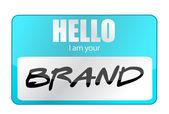Hello I am your Brand — Stock Photo