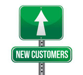 New customers traffic sign — Stock Photo