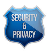 Security and Privacy Shield — Stock Photo