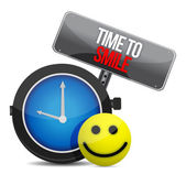 Time to Smile and a happy face — Foto de Stock