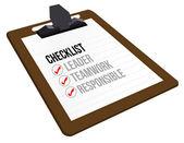 Business checklist clipboard — Stock Photo