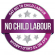 Say No To Child Labour seal — Stock Photo