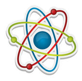 Abstract science icon of atom — Stock Photo