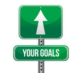 Your Goals Green Road Sign — Stock Photo