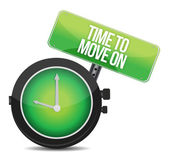 TIme to Move On concept — Stock Photo