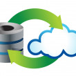 Stock Photo: Cloud computing icon