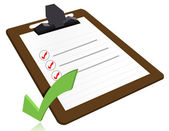 Success concept with cool check list on clipboard — Stock Photo