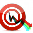 Business target marketing concept illustration — Stock Photo