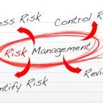 Risk management process diagram — Stock Photo