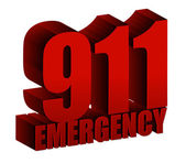 911 Emergency text — Foto de Stock