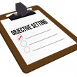 Stock Photo: Objective Setting clipboard